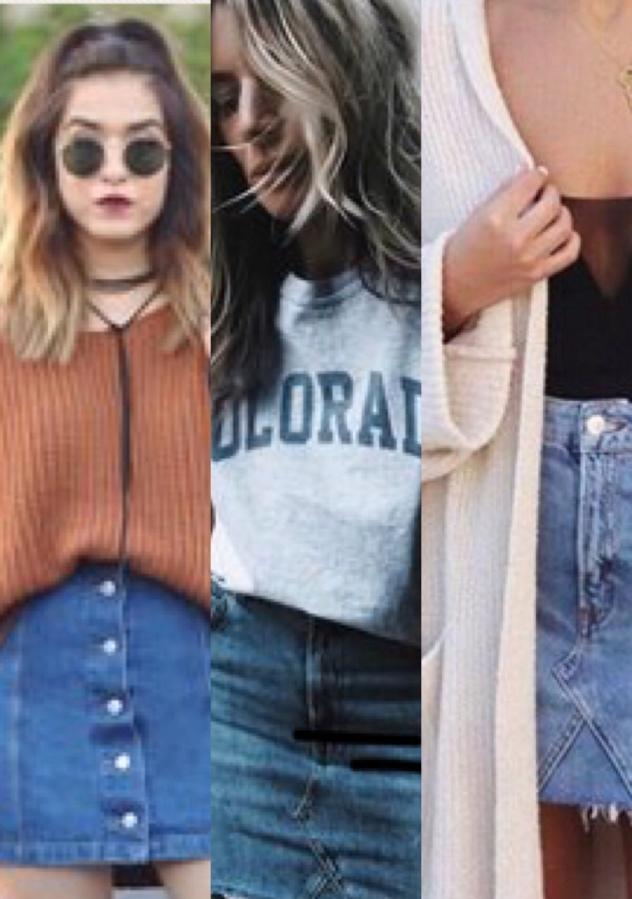 10 Ways to Wear a JeanSkirt